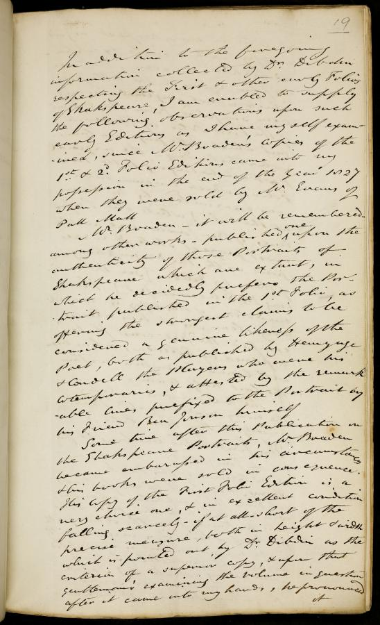 A Notebook Containing Information about Early Editions of Shakespeare, Collected from Various Sources