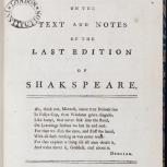 Thumbnail for Remarks, Critical and Illustrative, on the Text and Notes of the Last Edition of Shakspeare